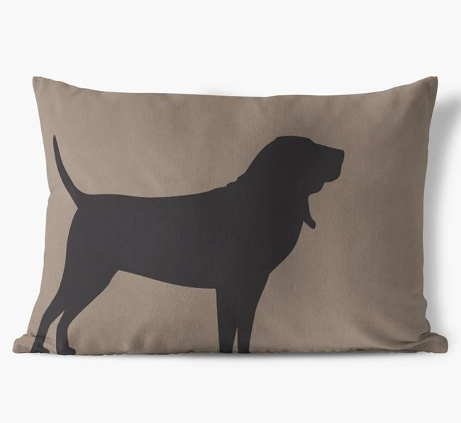 Bloodhound Single Silhouette Faux Suede Pillow
