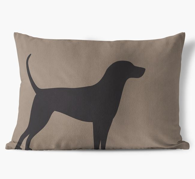 English Coonhound Single Silhouette Faux Suede Pillow