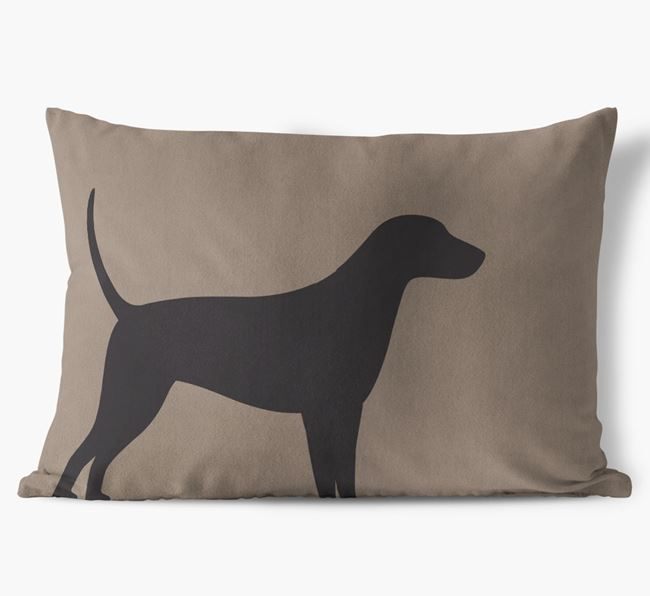Foxhound Single Silhouette Faux Suede Cushion