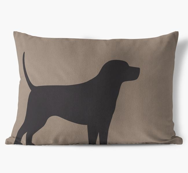 Harrier Single Silhouette Faux Suede Pillow