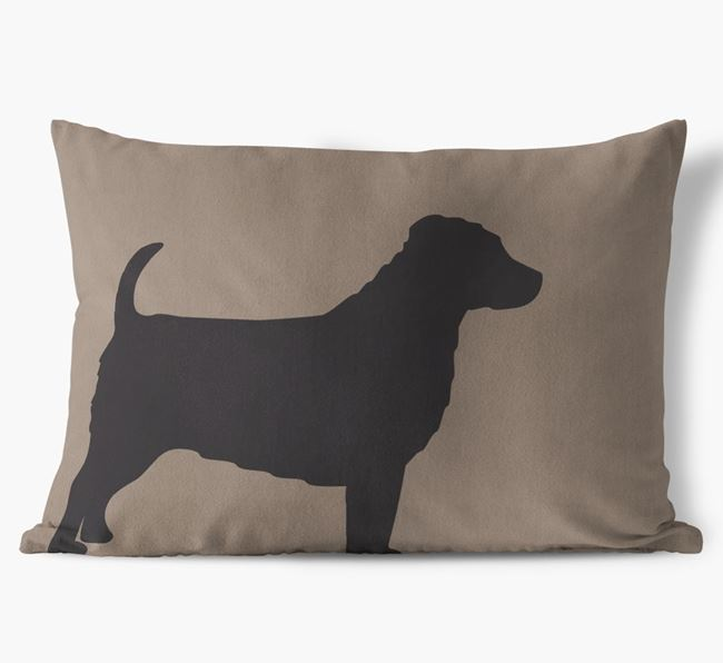 Jack-a-Poo Single Silhouette Faux Suede Cushion