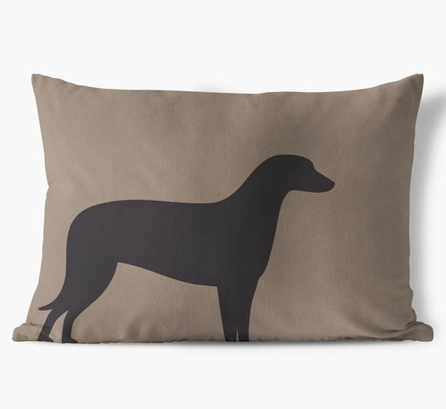 Lurcher Single Silhouette Faux Suede Pillow