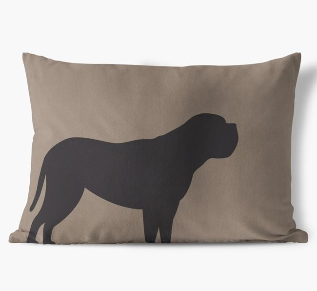 Dog Single Silhouette Faux Suede Pillow