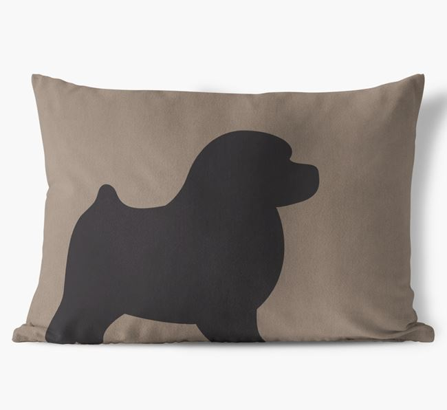 Toy Poodle Single Silhouette Faux Suede Cushion