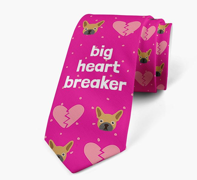 'Big Heartbreaker' Neck Tie with French Bulldog Pattern