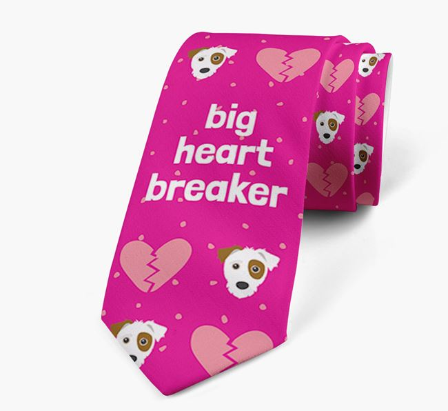 'Big Heartbreaker' Neck Tie with Jack-A-Poo Pattern