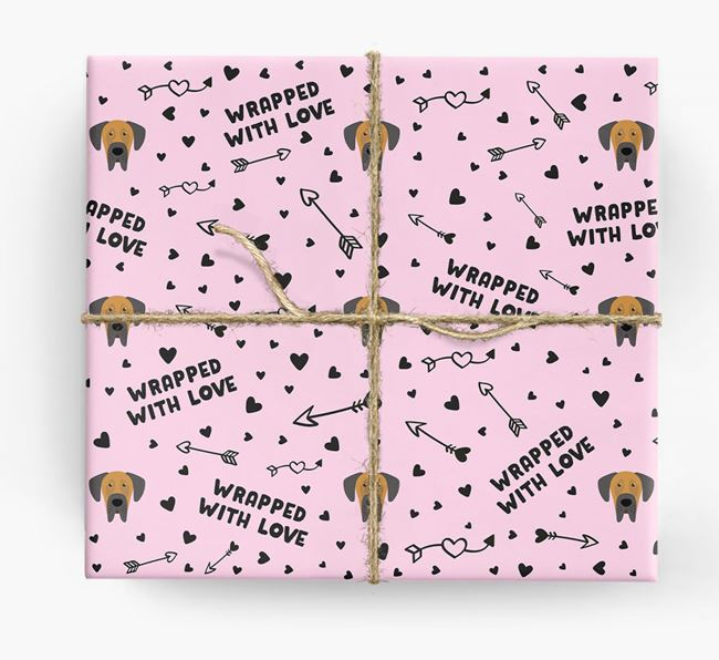 'Wrapped With Love' Wrapping Paper with Dog Icons