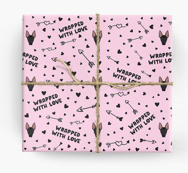 'Wrapped With Love' Wrapping Paper with Mexican Hairless Icons