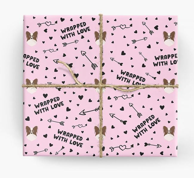 'Wrapped With Love' Wrapping Paper with Papillon Icons