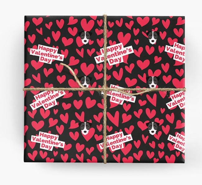 'Happy Valentine's Day' Wrapping Paper with Jack-A-Poo Icons