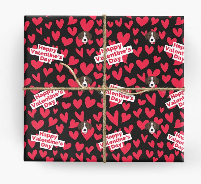 'Happy Valentine's Day' Wrapping Paper with Springador Icons