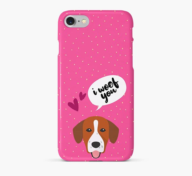 'I Woof You!' Pattern Phone Case with Springador Icon