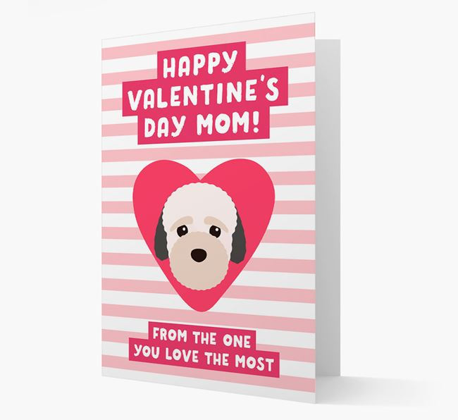 'Happy Valentine's Day Mum' Card with your Bich-poo Icon