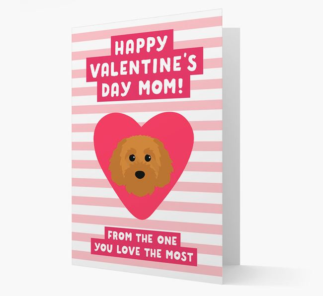 'Happy Valentine's Day Mum' Card with your Cavapoochon Icon