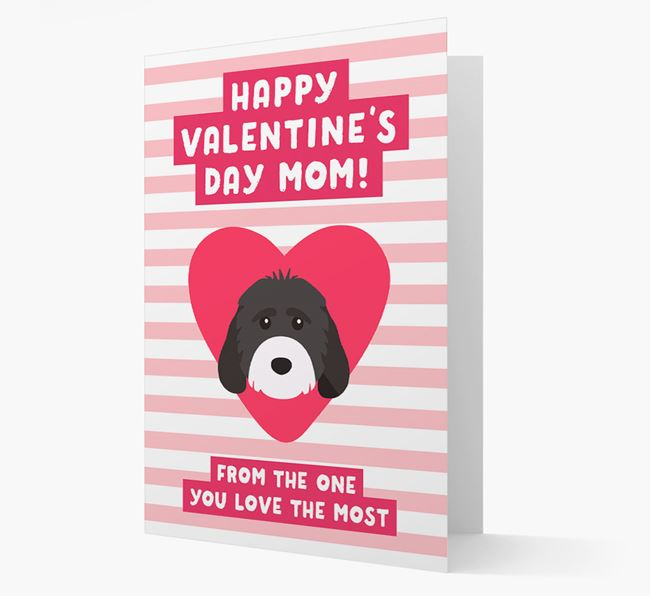 'Happy Valentine's Day Mum' Card with your Cockapoo Icon