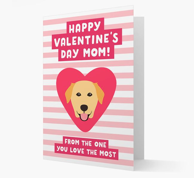 'Happy Valentine's Day Mum' Card with your Golden Labrador Icon