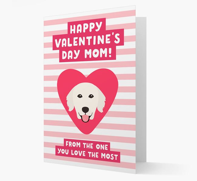 'Happy Valentine's Day Mum' Card with your Golden Retriever Icon
