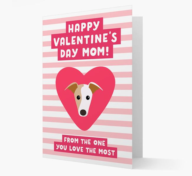 'Happy Valentine's Day Mum' Card with your Greyhound Icon