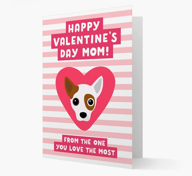 'Happy Valentine's Day Mum' Card with your Jackahuahua Icon