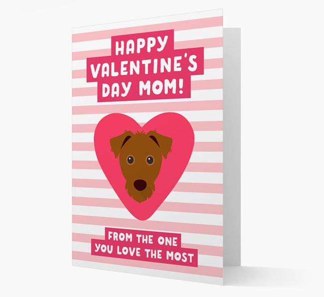 'Happy Valentine's Day Mum' Card with your Jack Russell Terrier Icon