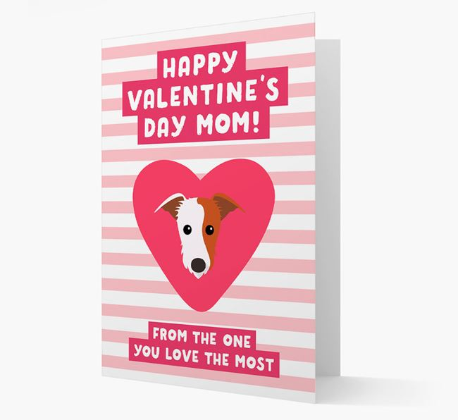 'Happy Valentine's Day Mum' Card with your Lurcher Icon