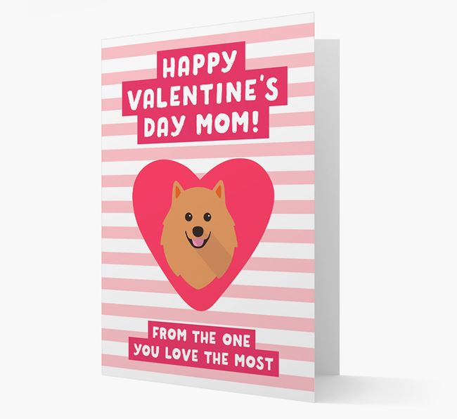 'Happy Valentine's Day Mum' Card with your Pomeranian Icon