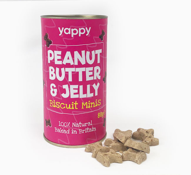 Peanut Butter & Jelly Mini Biscuits for your Doxiepoo