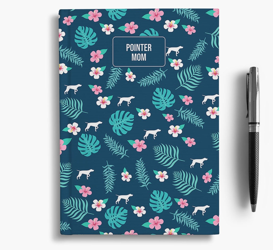 'German Shorthaired Pointer Mom' Notebook with Floral Pattern