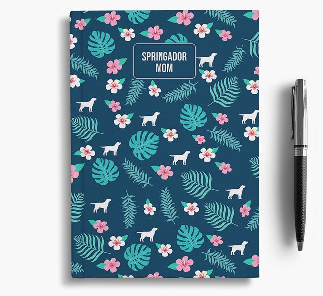 'Springador Mom' Notebook with Floral Pattern