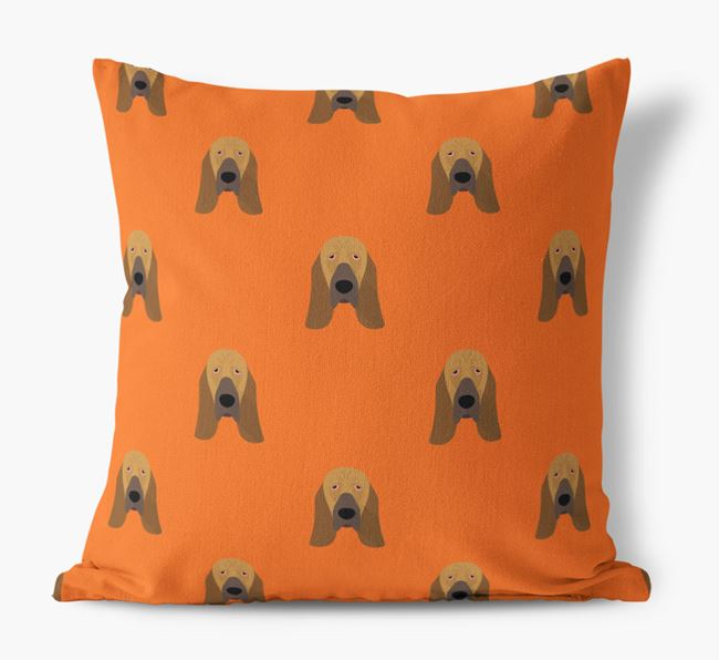 Bloodhound Yappicon Pattern Canvas Pillow