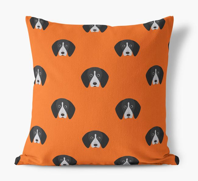 English Coonhound Yappicon Pattern Canvas Pillow