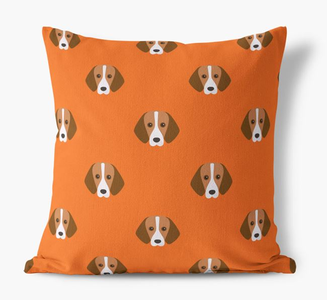 Foxhound Yappicon Pattern Canvas Cushion