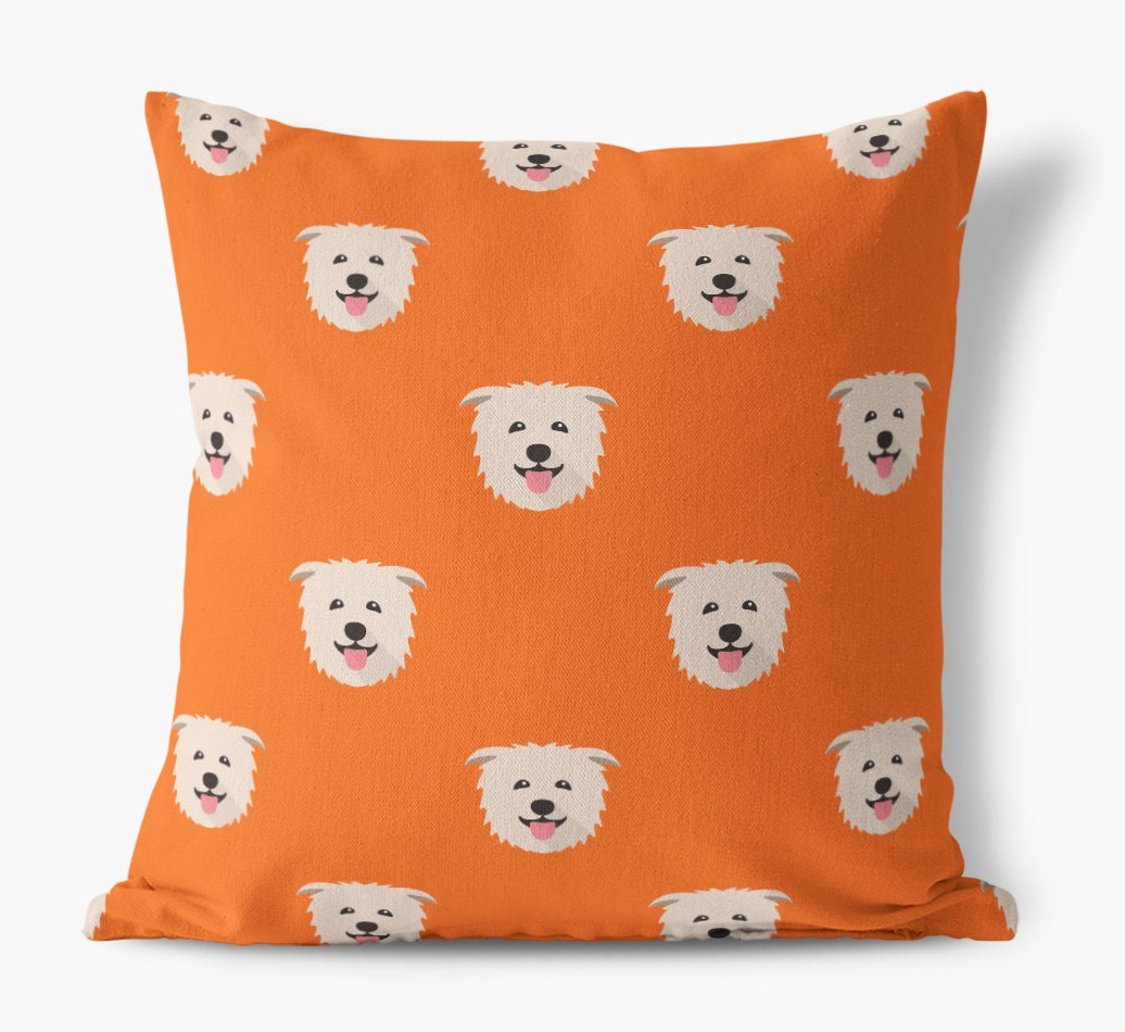 {colour} Glen Of Imaal Terrier Yappicon Pattern Canvas pillow front view