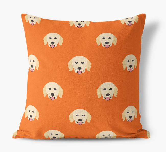 Hovawart Yappicon Pattern Canvas Pillow
