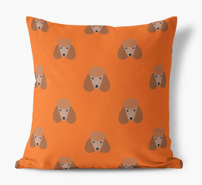 Poodle Yappicon Pattern Canvas Cushion