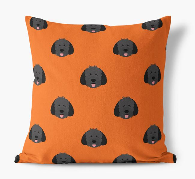 Dog Yappicon Pattern Canvas Pillow