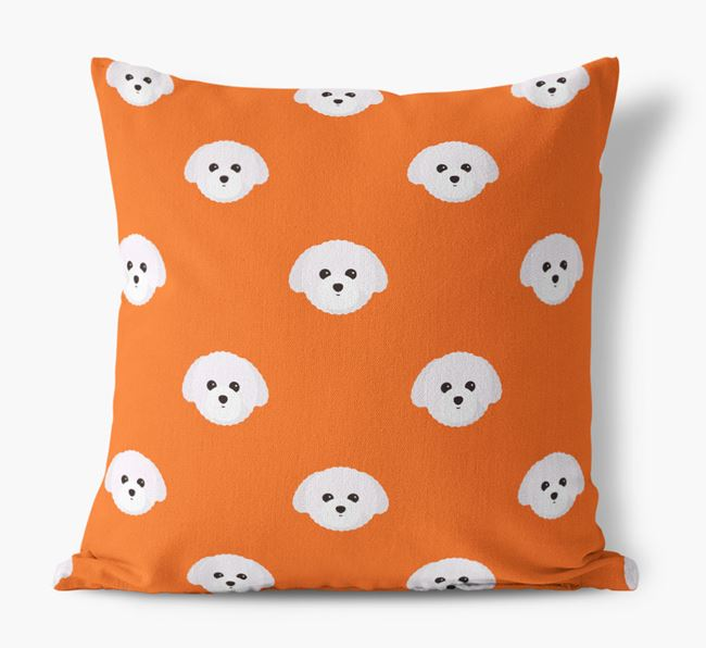 Toy Poodle Yappicon Pattern Canvas Cushion