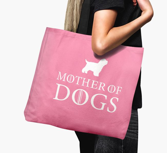 'Mother of Dogs' Canvas Bag with Bich-poo Silhouette