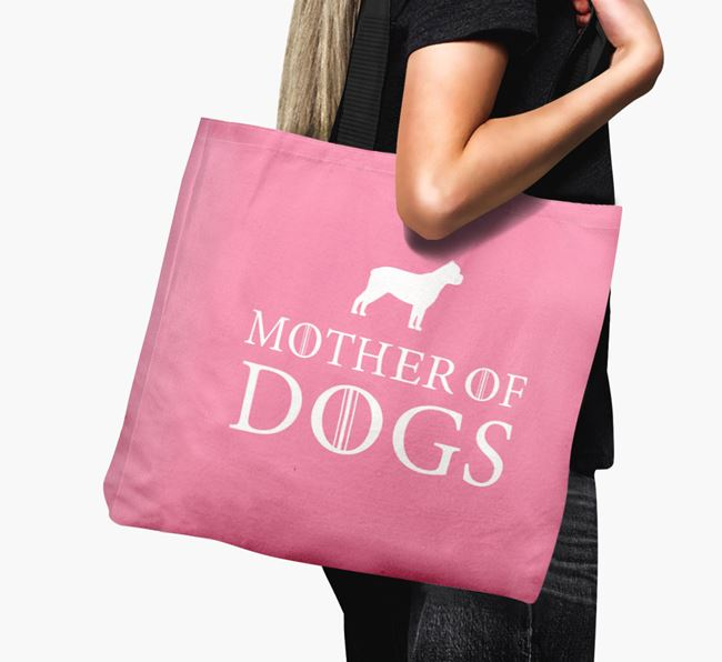 'Mother of Dogs' Canvas Bag with Cane Corso Italiano Silhouette