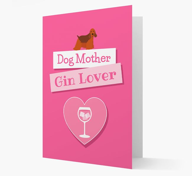 'Gin Lover' Card with your American Cocker Spaniel Icon