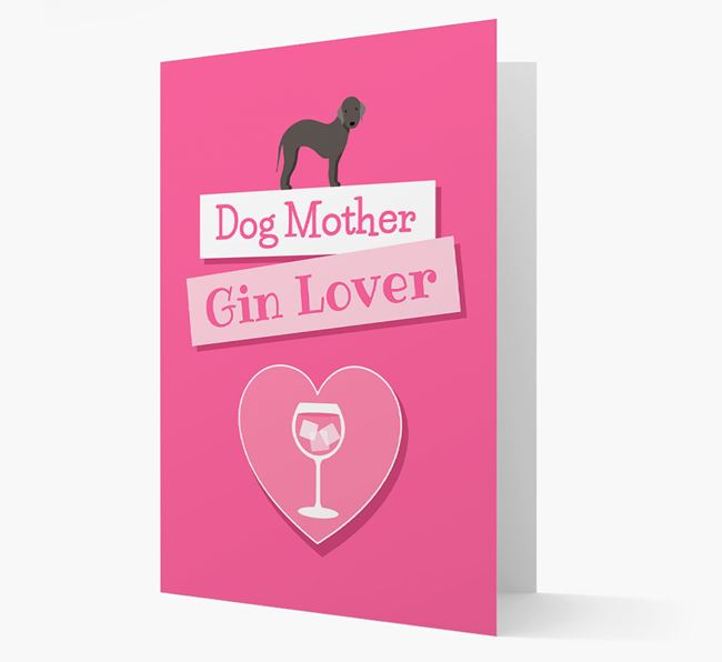 'Gin Lover' Card with your Bedlington Terrier Icon