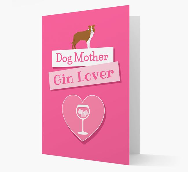 'Gin Lover' Card with your Border Collie Icon