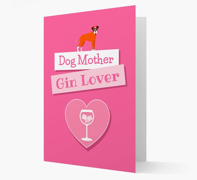 'Gin Lover' Card with your Dog Icon