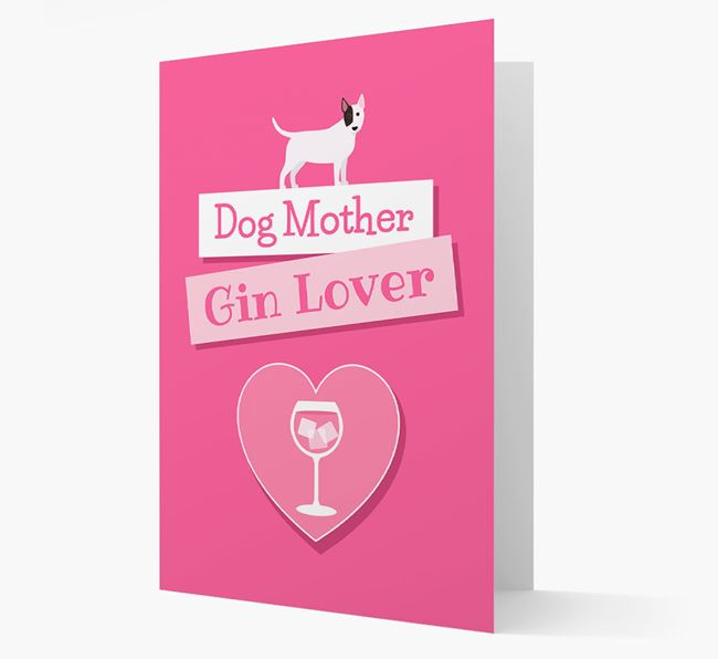 'Gin Lover' Card with your Bull Terrier Icon
