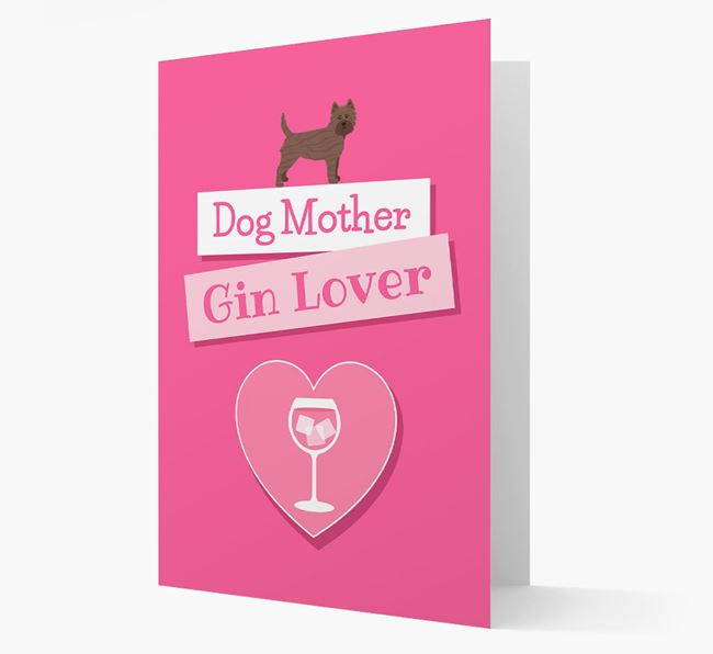 'Gin Lover' Card with your Cairn Terrier Icon