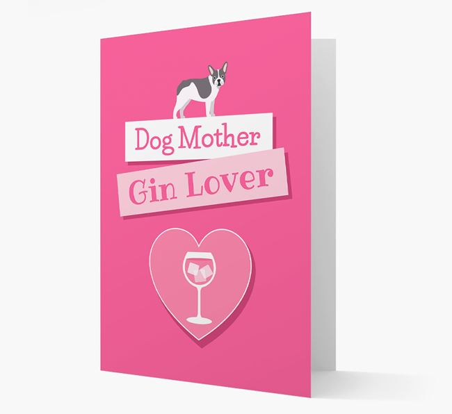 'Gin Lover' Card with your French Bulldog Icon