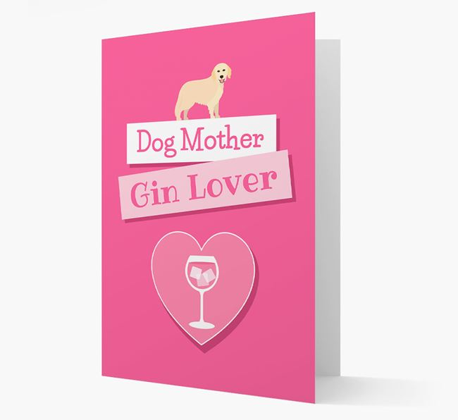 'Gin Lover' Card with your Hovawart Icon