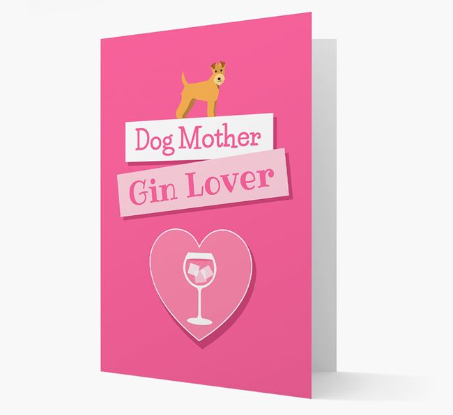 'Gin Lover' Card with your Lakeland Terrier Icon