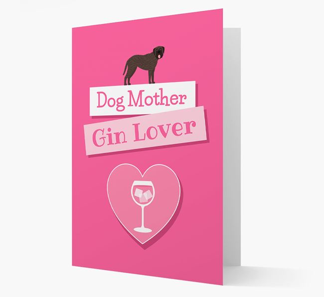 'Gin Lover' Card with your Mastiff Icon