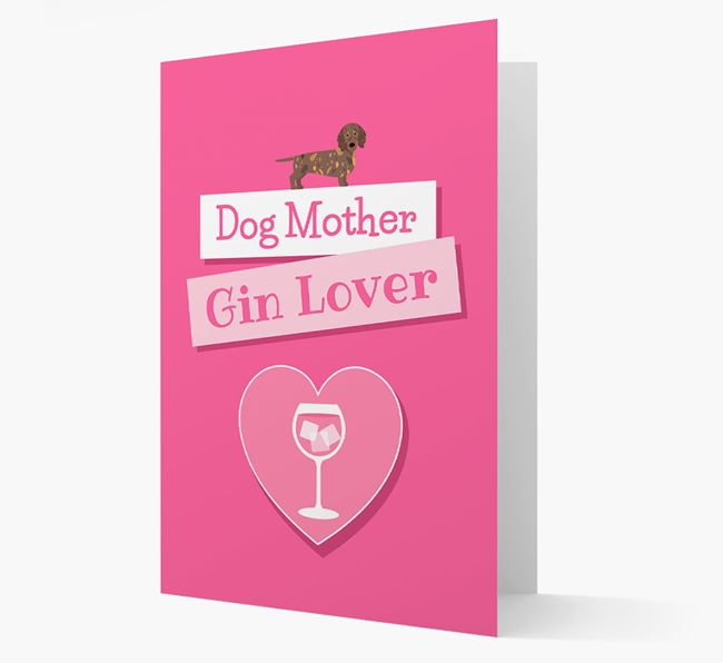 'Gin Lover' Card with your Mixed Breed Icon